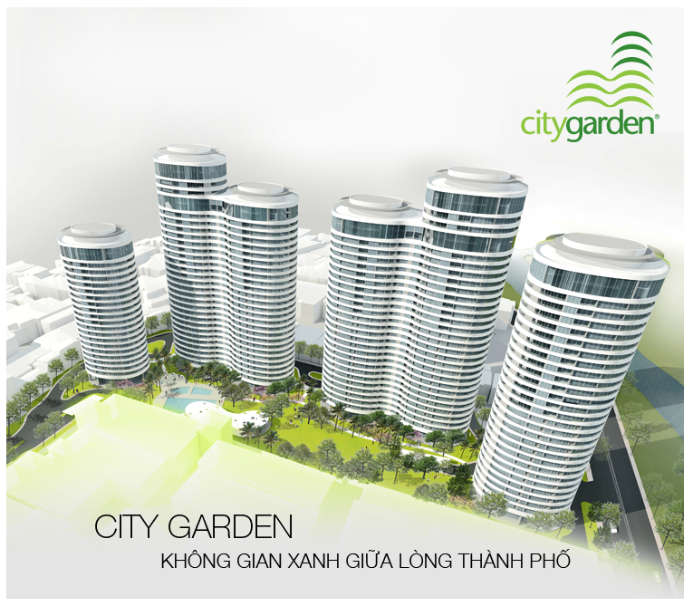 Attractive City Garden Apartment Building   Binh Thanh District   Ho Chi Minh City  (Saigon) |