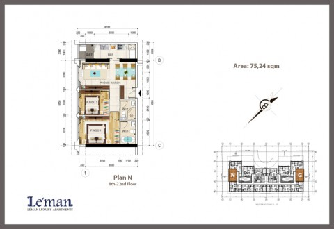 District 3 HCMC Leman Luxury Apartment for rent