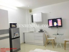 Brand new serviced studio for rent in Duong Ba Trac, Dist 8, HCMC