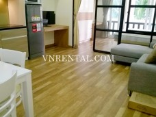 Cosy wooden floor serviced apartment for rent in Thao Dien, District 2, Ho Chi Minh City